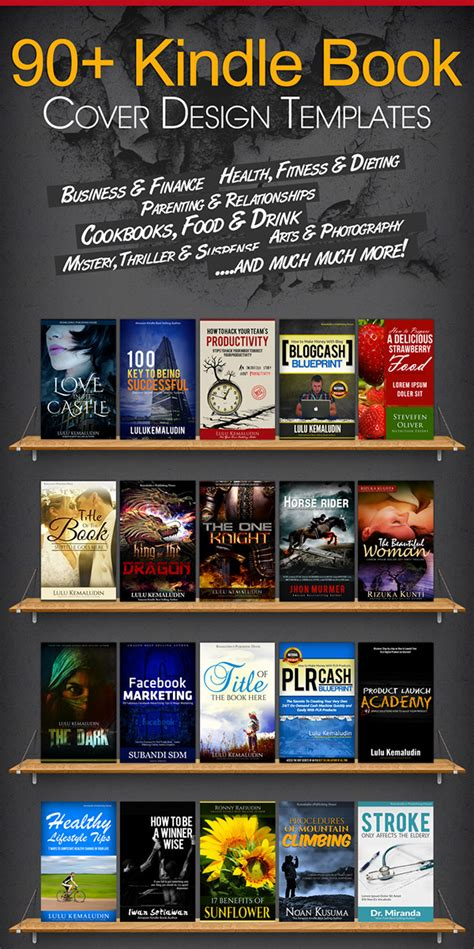 100 Kindle Book Cover Psd Templates On Behance Kindle Paperback Template