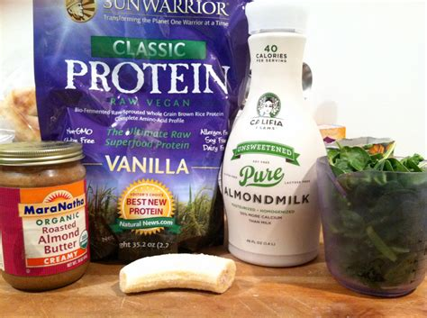 protein smoothies vanilla almond green protein smoothie the hungry husky