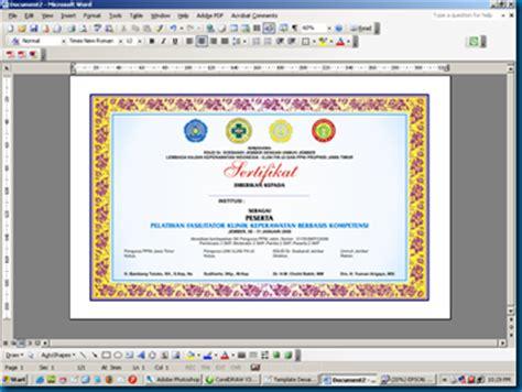 layout sertifikat coreldraw template dan layout desain piagam sertifikat menggunakan