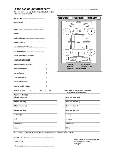truck condition report template vehicle condition report form 2 free templates in pdf