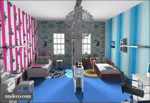 Boy and girl shared room shared kids room decorating room iders