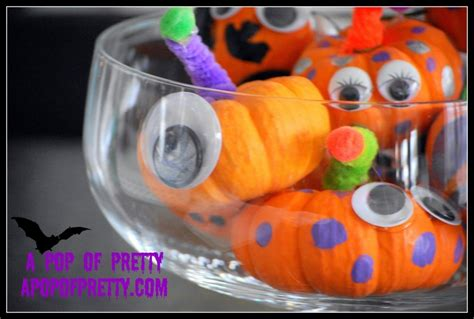 Small Pumpkins Decorating Ideas by No Carve Mini Pumpkin Monsters Easy