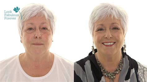 makeover for 60 year oldwoman nc makeup tutorial for older women using colour to look