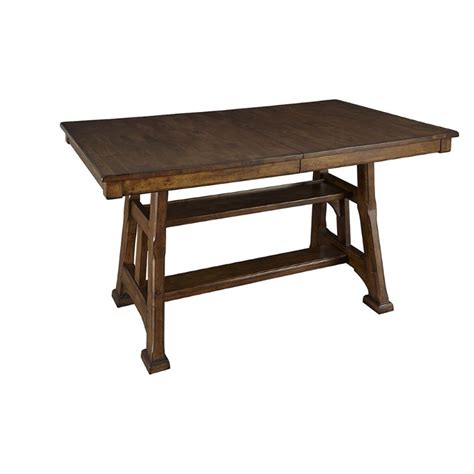 A America Dining Table A America Ozark Counter Height Dining Table In Warm Pecan Ozama6700