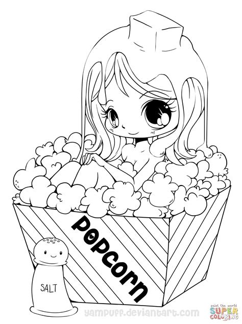 manga girl coloring page cute anime girl coloring pages free