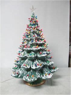 vintage ceramic lighted tree 24 inch holidays