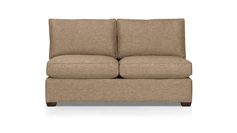 Armless Sleeper Sofa Davis Armless Sleeper Sofa Mink Crate And Barrel