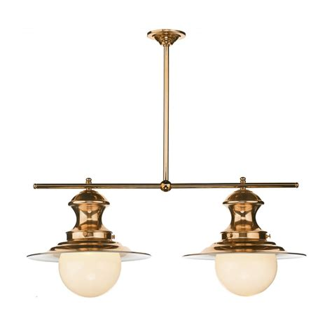 station l copper ceiling pendant with two