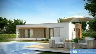 proiecte de case moderne pe un singur nivel spatii