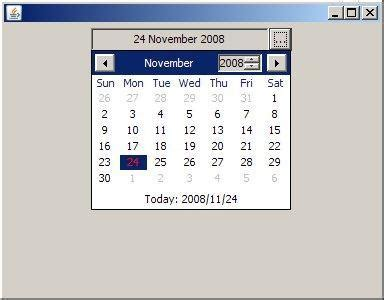 java swing calendar exle github jdatepicker jdatepicker jdatepicker java swing