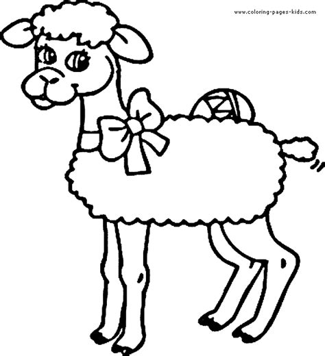 small sheep coloring page little lamb color page