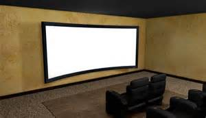 home theater projector screen smx procurv fixed curved projection screen ex demo