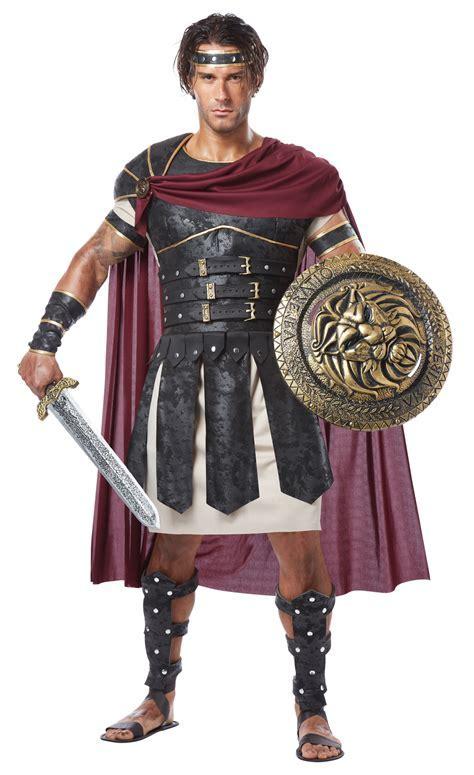 ifavor123.com: Men's Roman Gladiator Greek Soldier Halloween Costume Set Cape Tunic Body Armor
