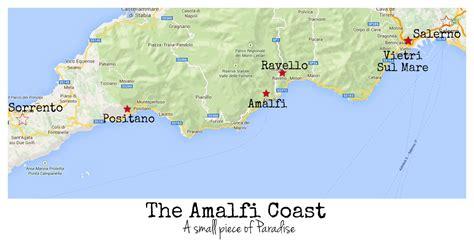 map of amalfi coast map of amalfi coast italy