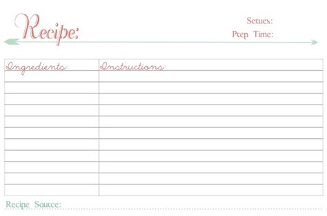 recipe card template you can type on pretty unpretentious free printable recipe cards yeah