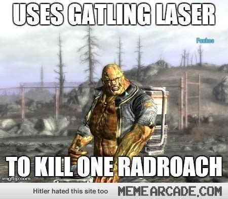 Fallout Memes - fawkes overkill fallout 3 meme arcade geek