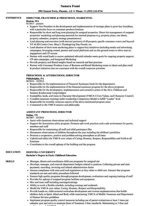 Preschool Resume by Preschool Director Resume Sles Velvet