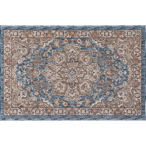 2 x 3 accent rugs tayse rugs fairview navy 2 ft x 3 ft accent rug fvw3307 2x3 the home depot