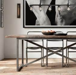 Industrial Dining Room Table 25 Industrial Dining Room With Masculine Interiors Home Design And Interior