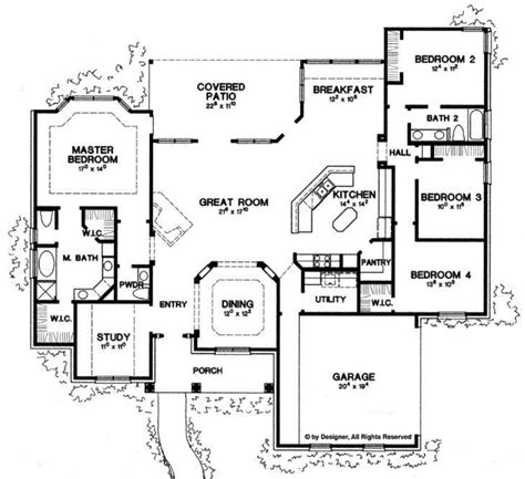 tyler by all american homes two story floorplan ranch style house plan 4 beds 2 5 baths 2500 sq ft plan