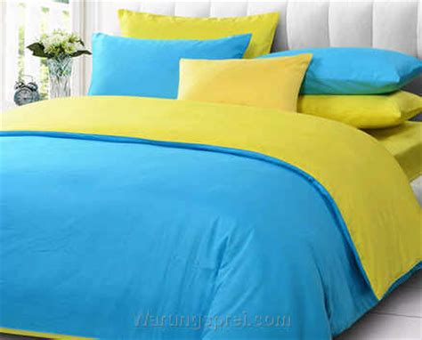 Sprei Madrid From Collection 100x200cm sprei polos biru muda kuning warungsprei