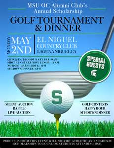 Golf Outing Flyer Template by Michigan State Alumni Club Annual Golf Tournament