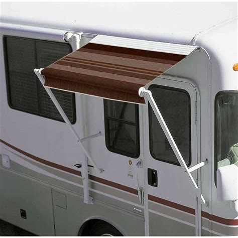 motorhome window awnings over the door awning d w 4 8 quot 4644 white