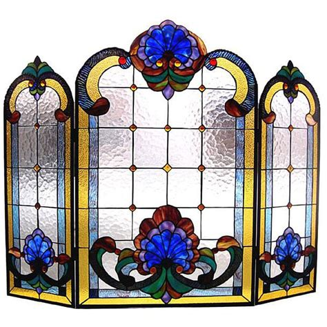 Stained Glass Fireplace Screens Sale by Stained Glass Fireplace Screen 12954296