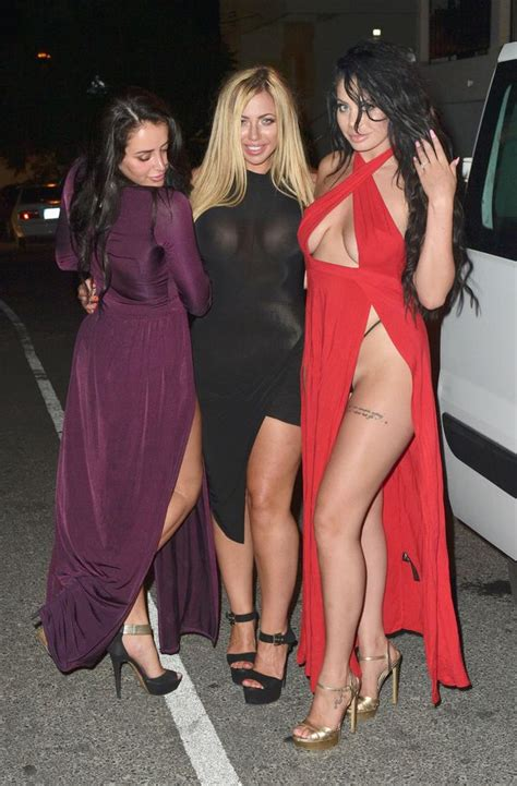kellie martin wardrobe malfunction chloe ferry and the geordie shore girls stumble about and