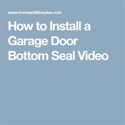 How To Seal The Bottom Of A Garage Door 25 Best Ideas About Garage Door Bottom Seal On Garage Ideas Diy Garage Storage And