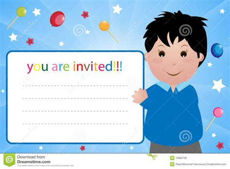 Lazy Boy Gift Card - party invitation card boy stock photography image 13892732