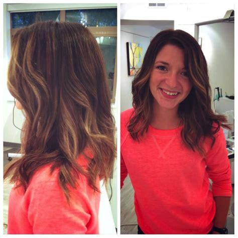 Changing Your Hair Colour From Mid Brown To Plum Tones | ombre natural looking brown with blonde highlights mid