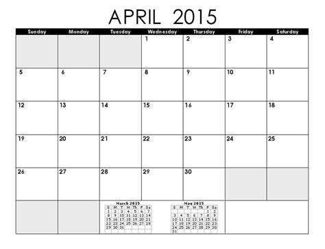 2015 April Calendar Printable April 2015 Calendar Yangah Solen