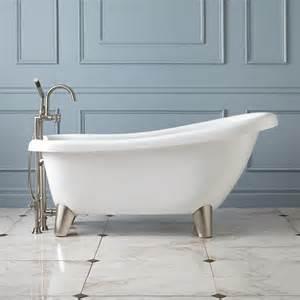 Modern Bathroom With Clawfoot Tub Alden Acrylic Slipper Tub Modern Clawfoot Tubs