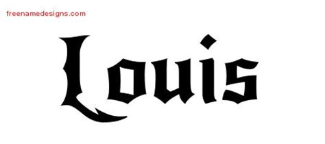 tattoo name louis louis archives page 3 of 3 free name designs