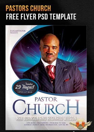 Pastors Church Flyer Psd Template Facebook Cover Pastor Anniversary Flyer Free Template