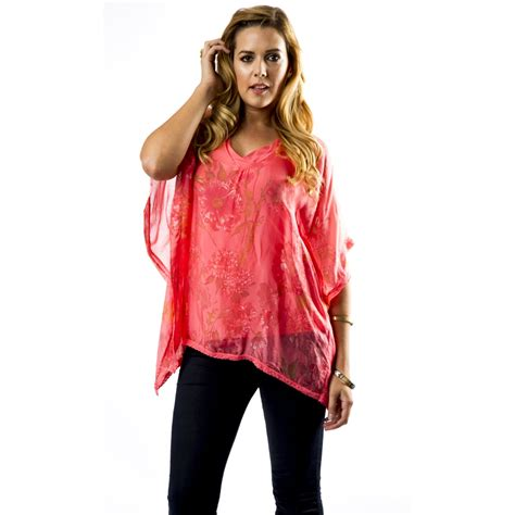 V Neck Printed Blouse v neck printed silk blouse tops from miss sugar uk
