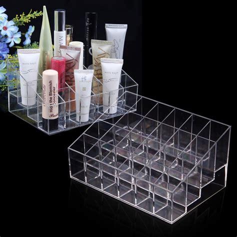 Acrylic Organizer Lipstik 15 Kotak clear acrylic 24 lipstick holder display stand cosmetic