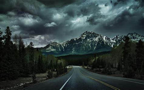 desktop backgrounds hd road mountain landscape wallpapers hd desktop and