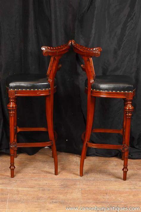 mahogany bar stools uk pair carved mahogany bar stools seats ebay