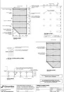 deck plans exle deck plans streamline drafting and design