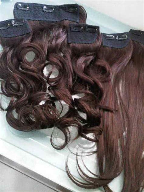 Jual Rambut Sambung Human Hair hair clip murah extension rambut human hair sintetik harga jual
