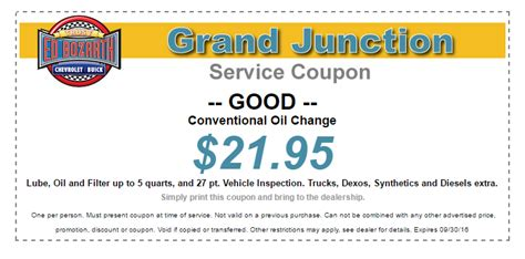 buick service coupons ed bozarth grand junction service specials certified gm