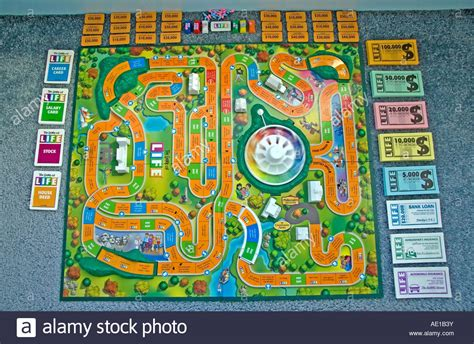 printable directions for the game of life quot the game of life quot by milton bradley the game board all