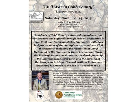 Cobb County Civil Search Civil War In Cobb County Lecture Smyrna Ga Patch