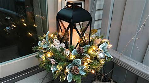 easy christmas planters lantern planter floral