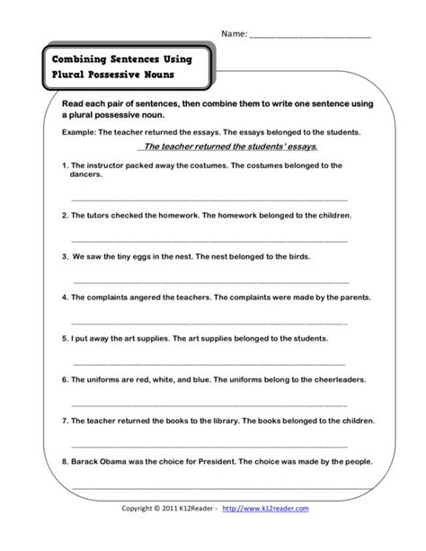 printables combining sentences worksheet