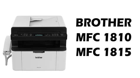 resetting brother printer to factory defaults reset da brother mfc 1810 e mfc 1815 youtube