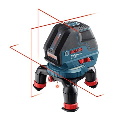bosch laser level bosch 3 line laser level with layout beam kit 5 gll 3 50 the home depot