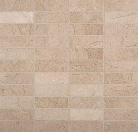crema marfil marble 1x3 mosaic tile polished